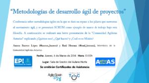 Cartel de la conferencia @epigijon marzo 2014